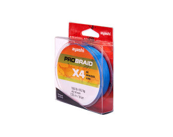 Ayashi PRO BRAID-X4 (blue) d-0,10mm (135м)