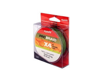Ayashi PRO BRAID-X4 (army green) d-0,12mm (100м)